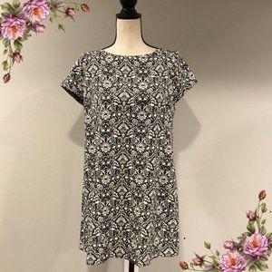 Zara Woman cap sleeve loose fit mini dress
